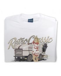 Ice Resurfacer and Ice Hockey Pin-up Model Tee - White
