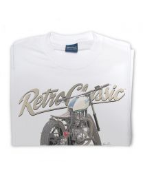 Vintage Custom Bobber Motorcycle Tee - White