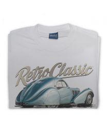 Classic Bugatti Type 57 SC Atlantic Tee - Grey