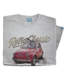 Classic 1965 Fiat 500 Car Mens T-shirt