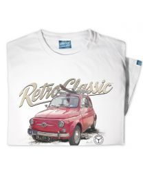 Classic 1965 Fiat 500 Car Mens T-shirt - White