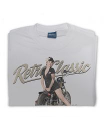 '99 HD Sportster Bobber Bike & Pin-up Miss Lady Allure Mens T-Shirt