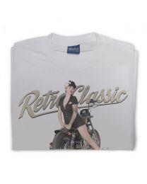 '99 HD Sportster Bobber Bike & Pin-up Miss Lady Allure Mens T-Shirt