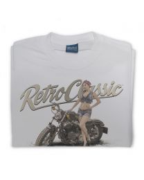 Tiny shorts LaRoss Pin-up and Harley Inspired Motorbike Mens T-Shirt