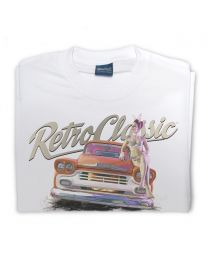 LaRoss Pin-up and Pick-up Truck Tee - White