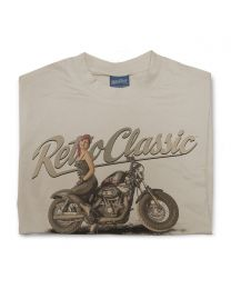 LaRoss Pin-up and Harley Inspired Motorbike Mens T-Shirt