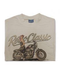 LaRoss Pin-up and Harley Inspired Motorbike Mens T-Shirt