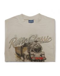 BR Standard Class 4 Steam Train Tee - Sand
