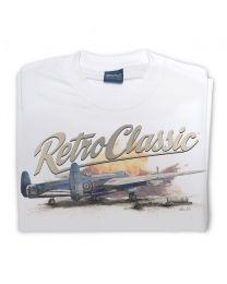 WWII RAF Lancaster Bomber Plane Tee - White