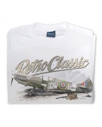 WWII Supermarine Spitfire Fighter Plane Mens T-Shirt