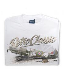 WWII Supermarine Spitfire Fighter Plane Mens T-Shirt