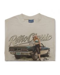 1968 Chevrolet Camaro SS convertible and Autumn Rose Mens T-Shirt