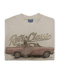 Classic Vauxhall Cresta and Pin-up Annie Drew Mens T-Shirt