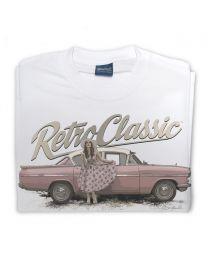 Classic Vauxhall Cresta and Pin-up Annie Drew Tee - White