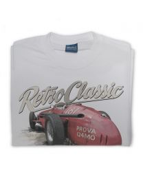 Classic Maserati 250F Racing Sports Car Tee - Grey