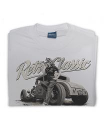 Ford Model A Hot Rod & Rina Bambina Tee - Grey