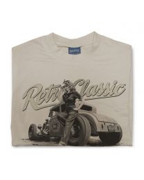 Ford Model A Hot Rod & Rina Bambina B/W Mens T-Shirt