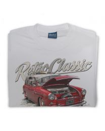 Rob's Surf Type 3 Squareback Mens Classic Car Tee - Grey