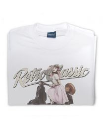 Miss Alice Meow and Retro Vespa Tee - White