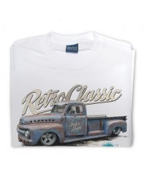 Jack's Shack 1952 ford f100 Monster Pick-Up Truck Tee - White