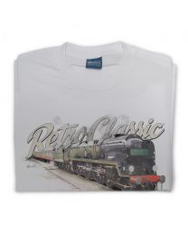 SR Merchant Navy Class 35028 Clan Line Steam Train Tee - Grey