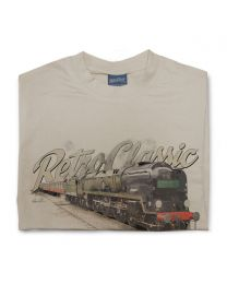 SR Merchant Navy Class 35028 Clan Line Steam Train Mens T-Shirt