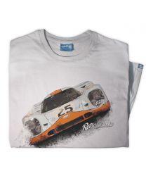 1969 Gulf Porsche 917K Mens Classic Race tee - Grey