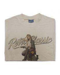 Yamaha FZ8 Motorbike & Biker Chick Model Sophie Mens T-Shirt