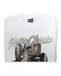 Old Fordson Major Tractor Mens Tee - White