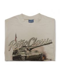 1942 US Army Harley WLA Motorcycle and Rider Tee - Sand