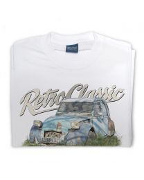 Run-down Citroën 2CV (deux chevaux) Car Tee - White