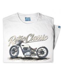 Custom Triumph Bobber Motorcycle Tee - Grey
