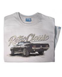 Classic Ford Mustang Convertible Sports Car Mens T-shirt