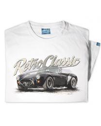 AC Cobra Mk IV Classic Sports Car Tee - White