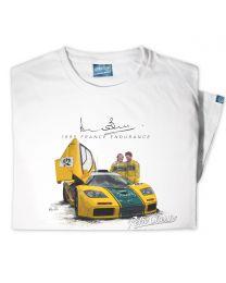 Woman's '1995 France Endurance' Official Derek Bell Classic Race Car T-Shirt