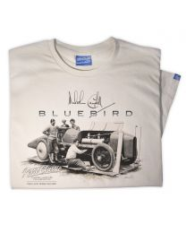 1925 Malcolm Campbell Land Speed Bluebird Sunbeam 350HP Tee - Sand