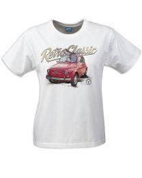 Classic 1965 Fiat 500 Car ladies T-shirt