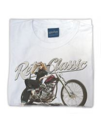 Ford Model A Hot Rod & Rina Bambina B/W Ladies T-Shirt