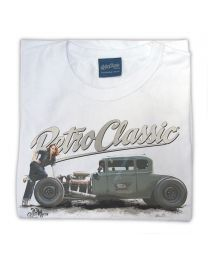 Ford Model A Hot Rod & Rina Bambina Ladies T-Shirt