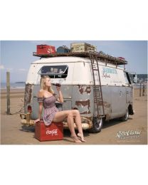 Jessica Johansen, Harbour Surfbus & Retro Coke Cooler A2 Art print/poster